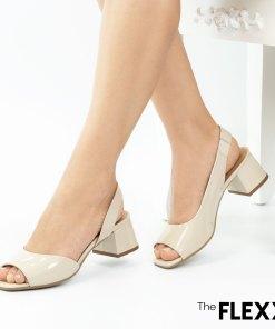 Sandale dama The Flexx din piele naturala Tokyo bej