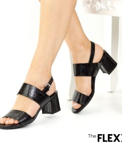 Sandale dama The Flexx din piele naturala Creemy negru