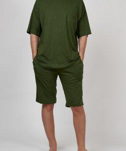 Pijama din amestec de bumbac - cu buzunar pe piept 2838237