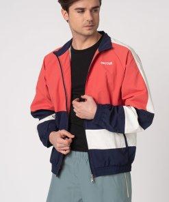 Jacheta din material usor cu model colorblock 2611747