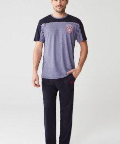 Pijama cu logo discret 2837940