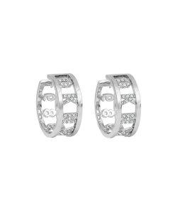 Cercei rotunzi decorati cu cristale Swarovski 2515141