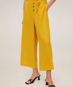 Pantaloni culotte cu nasturi decorativi Marga 2639325