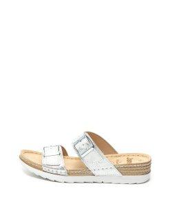Papuci de piele ecologica cu benzi cu catarama 1939805