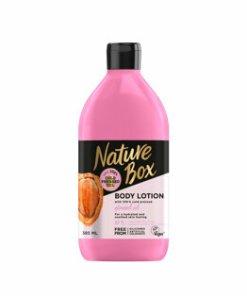 Lotiune de corp pentru piele sensibila cu ulei de migdala presat la rece Nature Box, 385 ml
