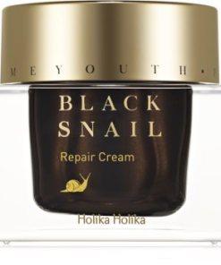 Holika Holika Prime Youth Black Snail crema nutritiva pentru reparare extract de melc HLKBLSW_KFCR02