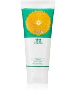 Holika Holika Daily Fresh Citron spuma exfolianta pentru curatare pentru ten gras și mixt HLKDAFW_KMUR05