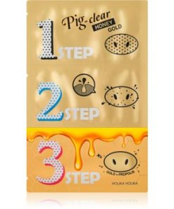 Holika Holika Pig Nose Honey Gold patch-uri de curatare a prilor de pe nas HLKPIGW_KMSK21