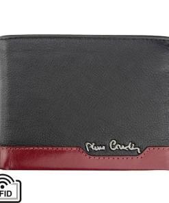 Portofel barbati din piele naturala Pierre Cardin GPB396 - cu Protectie RFID Negru/Rosu