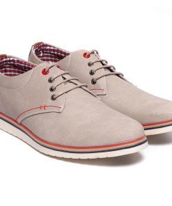 Pantofi barbati Clayton cu talpa interioara din piele naturala Gri