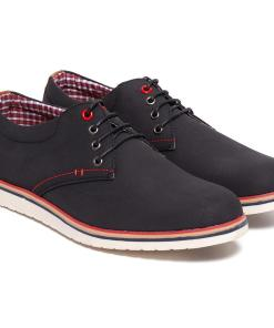 Pantofi barbati Clayton cu talpa interioara din piele naturala Negru