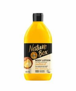 Lotiune de corp pentru piele hidratata si delicata cu ulei de Macadamia presat la rece Nature Box, 385 ml