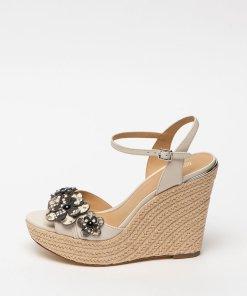 Sandale tip espadrile wedge de piele Flora 2696235