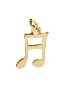 Pandantiv placat cu aur nota muzicala
