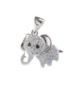 Pandantiv argint elefant simpatic