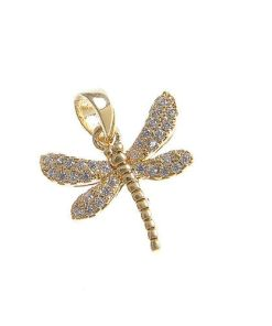 Pandantiv placat cu aur libelula
