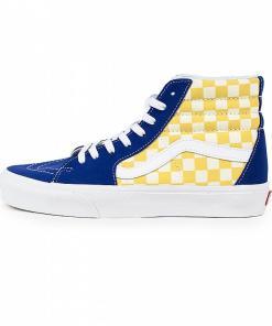 Teniși Sk8-Hi (bmx checkerboard) true blue/yellow