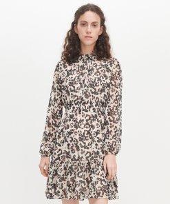 Reserved - Rochie cu imprimeu tip leopard - Multicolor