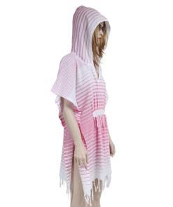 Rochie de plaja Peshtemal Pink Gradient Hood 1.00E+06