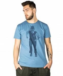 Tricou Pollichio SS noble blue