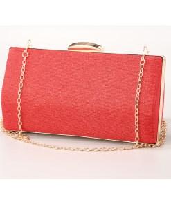 Geanta clutch rosie cu rama metalica - cod 39411