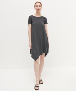 Reserved - Rochie din tricot - Gri