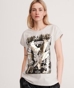 Reserved - Tricou Maleficent - Gri deschis
