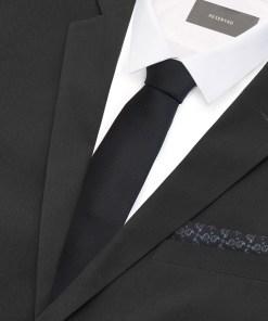 Reserved - Cravată & batistă de buzunar - Negru