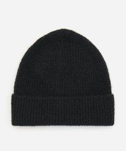 Reserved - Căciulă din tricot reiat - Negru