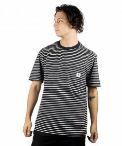 Tricou Basic Stripes SS flint black
