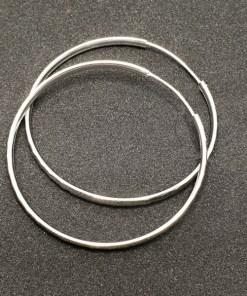 Creole 5.5 cm Silver din argint rodiat CAG047