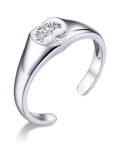 Inel din argint reglabil Heart Tree
