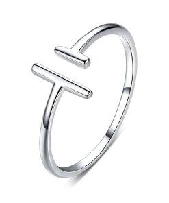Inel din argint T Shape Ring