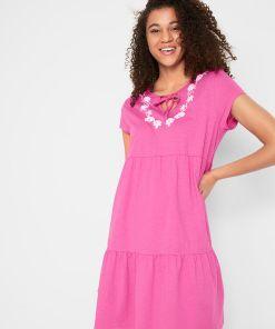 Rochie-tunică din jerse - roz