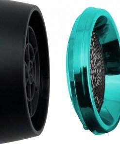 Uscator de par Trisa Salon Professional, 2200 W, 3 niveluri incalzire, 2 viteze, negru/albastru