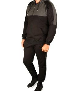 Trening gros vatuit negru cu gri Style pentru barbat - cod 38762
