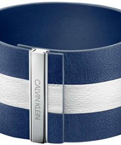 Albastru și alb brățară din piele Rebel KJ9KWB09010