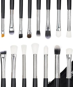 Set 15 pensule machiaj Precise Makeup, Black + Borseta Cadou