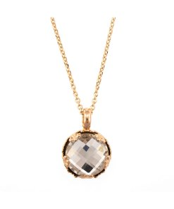 Pandantiv cu lant placat cu Aur roz de 24K - Cristale Swarovski - On a Clear Day by Cristal Transparent 3278490