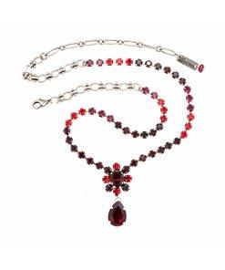 Colier placat cu Argint 925 - Cristale Swarovski - Lady In Red by Rosu 3278564