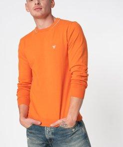 Pulover slim fit din tricot fin cu aplicatie logo 3065127