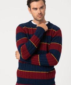 Pulover din amestec de lana - cu model torsade 3177429