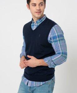 Vesta slim fit tricotata fin din lana 3279550