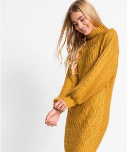 Rochie tricotată - portocaliu
