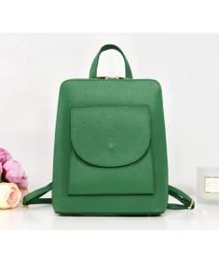 Rucsac verde electric piele naturală tip geantă Alexander