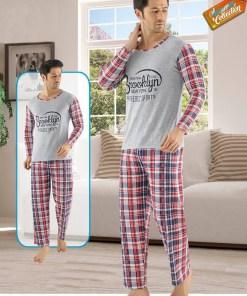 Pijama gri Brooklyn pentru barbat - cod 40939