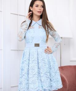 Rochie Ramona bleu pastel din dantela