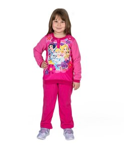 Pijama fete Printesele Disney Hearts and Paws fucsia