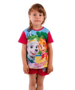 Pijama fete Paw Patrol Is On a Roll fucsia