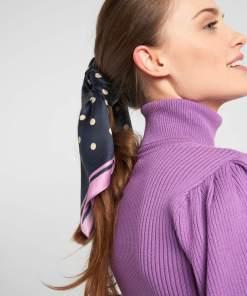 Eșarfă satinată cu model 2-pack Violet